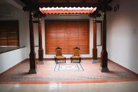 a traditional style courtyard on the first floor.
