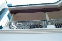 detail of the grill on the balcony.