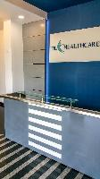 The reception table.